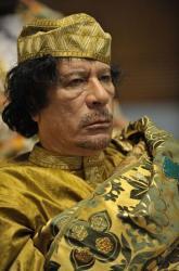 Le colonel Kadhafi en 2009