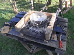 Distillation sur le barbecue