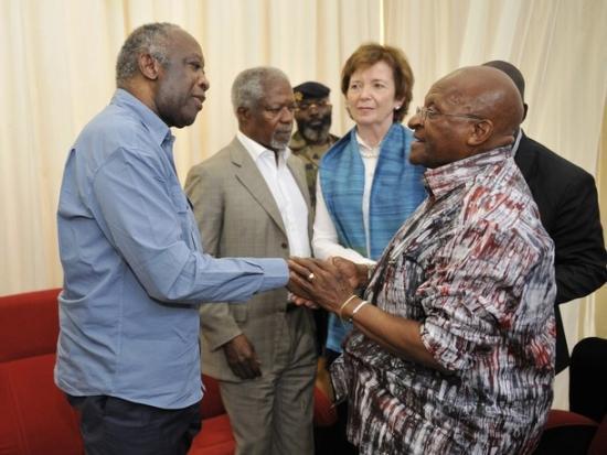 Annan, Tutu et Robinson rendent visite à Gbagbo à Korhogo