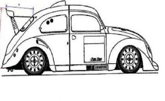 dessins auto a colorier