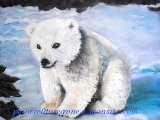 dessin au pastel sec animaux ourson