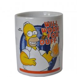 Tasse Homer Will work for Duff