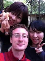 Masako, moi et Keiko (G a D) - Tokyo