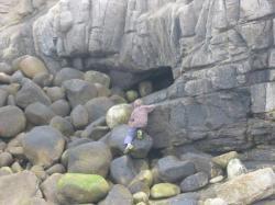 Dans les rochers