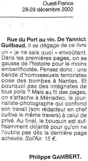 Ouest France - décembre 2002