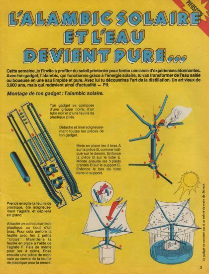 l'Alambic solaire de Pif gadget, p.1