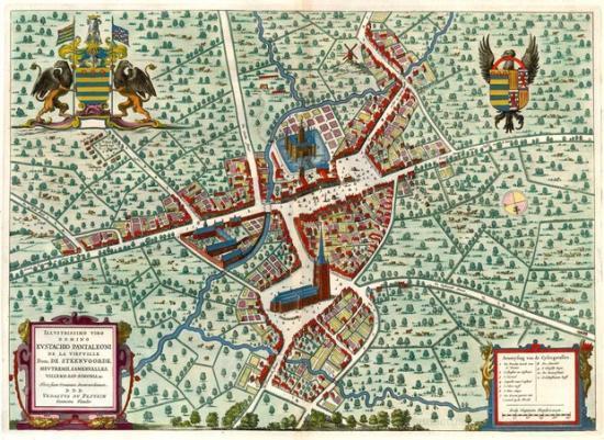 Steenvoorde au XVIIe siècle selon Sanderus