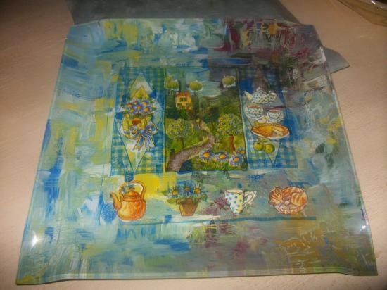 Peinture sur verre - Peinture a craqueler ...