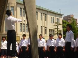 Chorale face aux monument aux enfants d'Hiroshima
