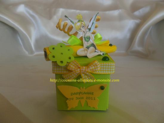 theme fée clochette jaune et vert anis