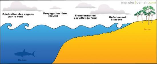 Formation des vagues