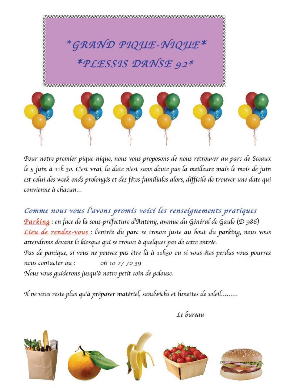invitation pique nique