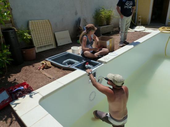 Travaux desjoyaux for Spot piscine desjoyaux