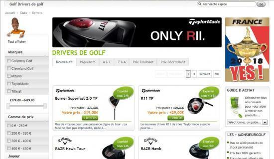 Le site marchand de golf en France