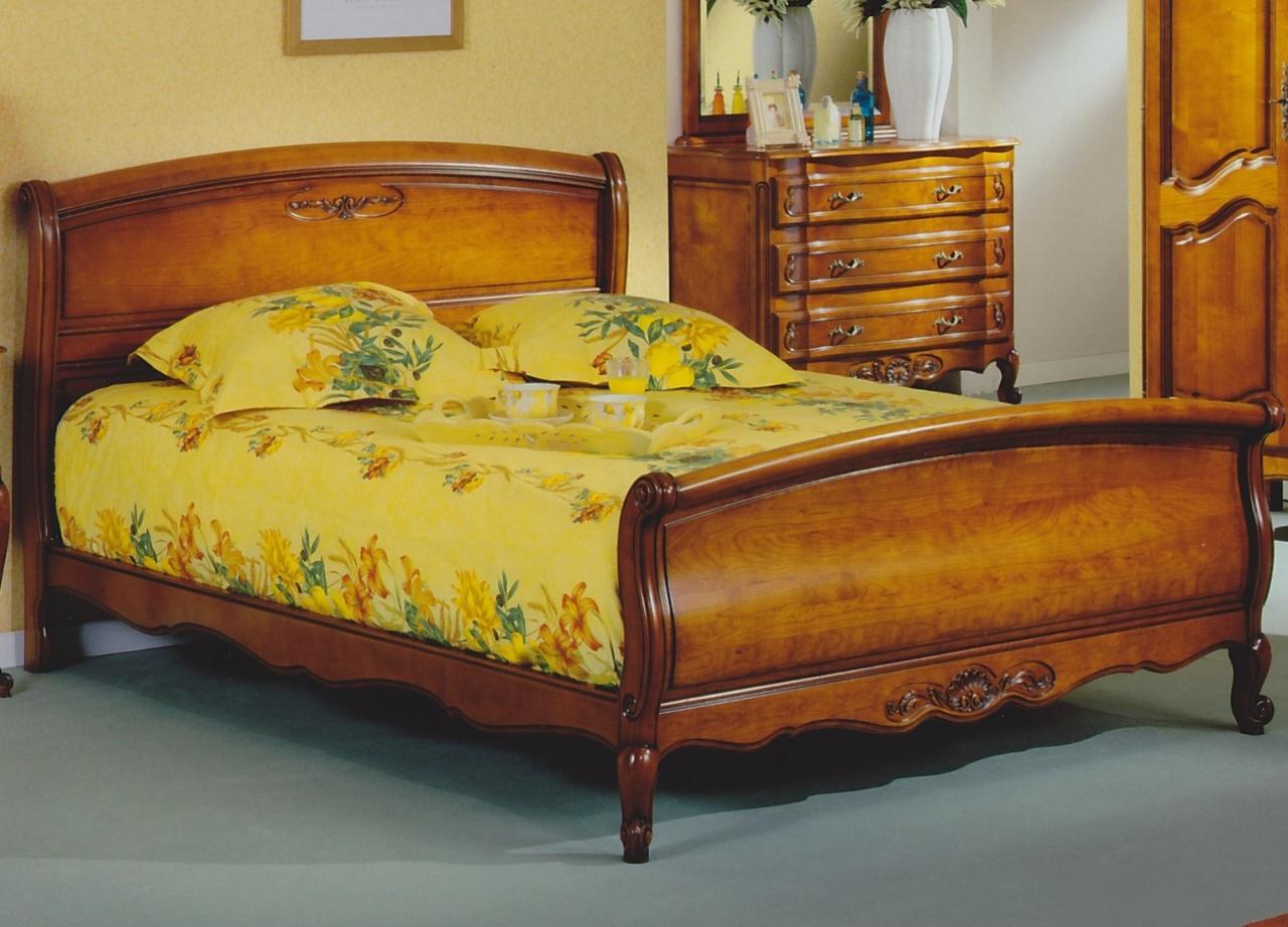 lit r gence merisier 160 x 200 cm ref h 2 980 00 pictures. Black Bedroom Furniture Sets. Home Design Ideas