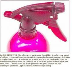 vaporiser cheveux crépus
