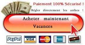 Réservation vacances avec PayPal