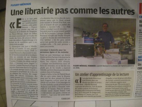 "Article ""Le Parisien"" du 26 mai 2011"