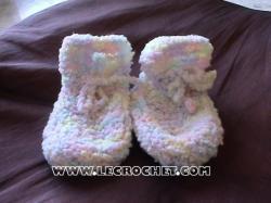 chausson bébé au tricot