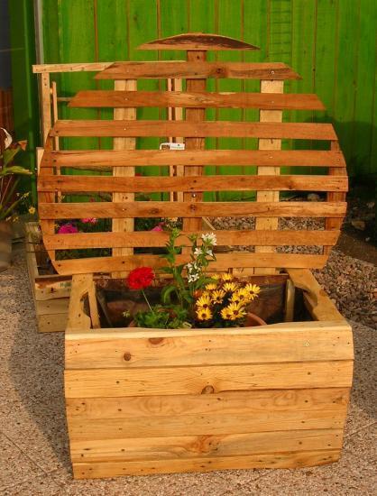 palettes recyclées, bois, mobilier de jardin, nature, construction