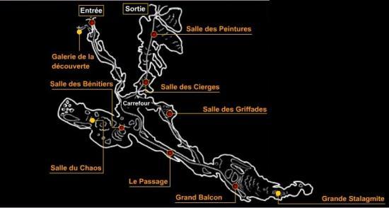 Plan de la Grotte de Villars
