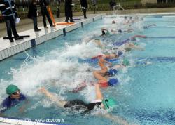 Départ natation en piscine