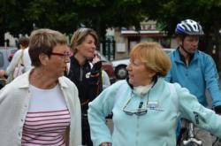 Madame le Maire du Croisic et Odile Burlot
