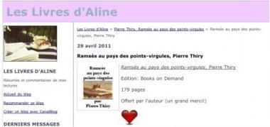 Les livres d'Aline a eu un coup de coeur pour «Ramsès au pays des points-virgules»