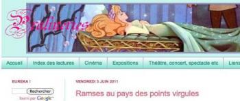 Pralinerie webzine littéraire vous recommande «Ramsè au pays des points-virgules»