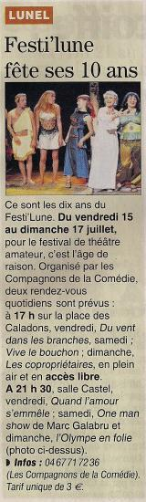 Le Journal des Festivals