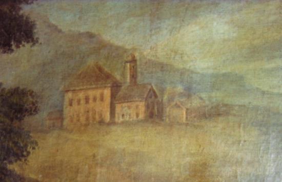 détail tableau St Bernard à Meillerie