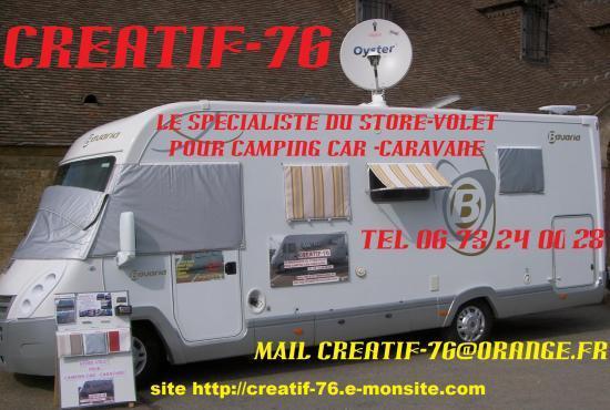 Store volet camping car caravane le petit plus un grand for Store interieur caravane