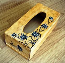 Boite mouchoirs edelweiss