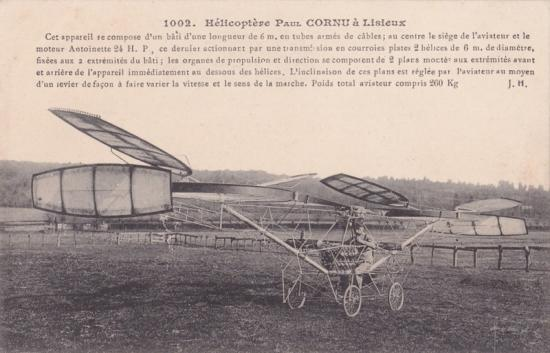Hélicoptère de Paul Cornu