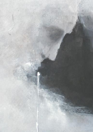 Les passants de lune. Détail : le fil blanc. Format 60 x 80 . 2011