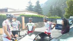 Maxime, Didier, Jérémi et JP avant le départ