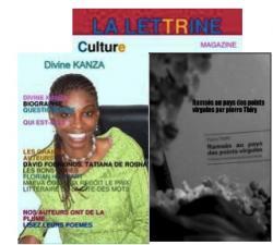 Ramsès au pays des points-virgules» fait la une de Lettrine Culture le magazine de Divine Kanza