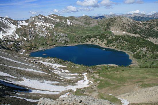 Lac d'Allos depuis le pas de Lausson