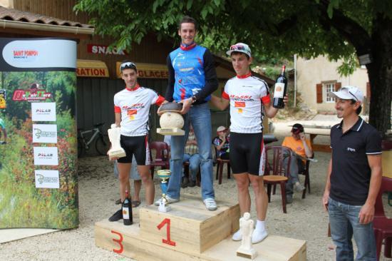 Le podium de l'épreuve Elite