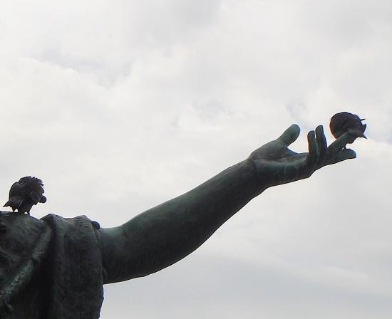 Statue pigeon