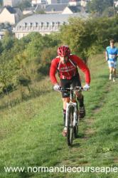 Olivier, triathlète du club et ouvreur vtt pour le parcours