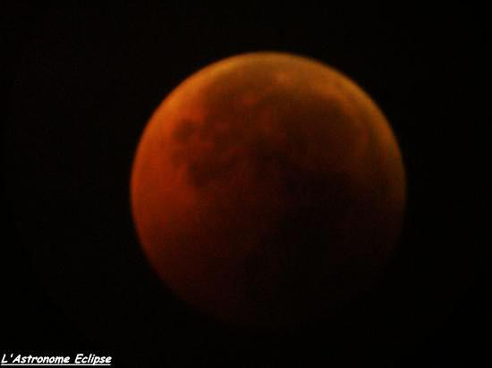 Photo prise par l'astronome amateur Eclipse