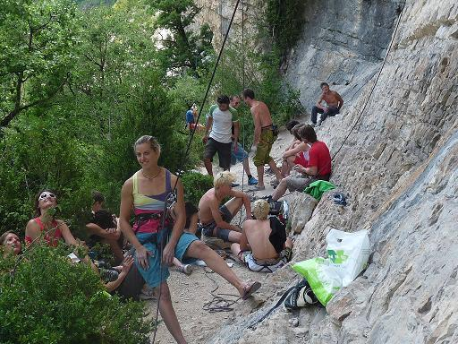 Une réunion de grimpeurs pro et amateurs