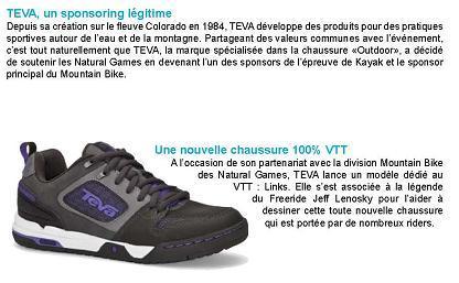 une paire de chaussures dédiée au MoutainBike