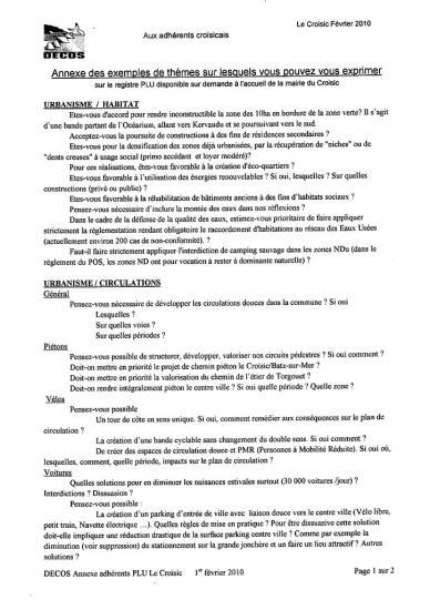 Pour apporter vos remarques page 2