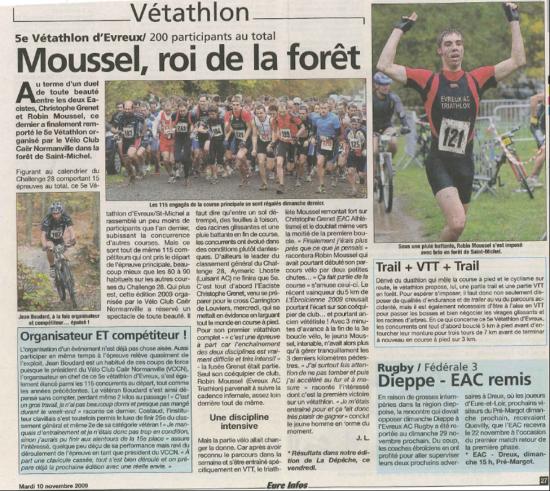 Eac triathlon dans la presse 2008 et 2009 for Piscine jean bouin evreux