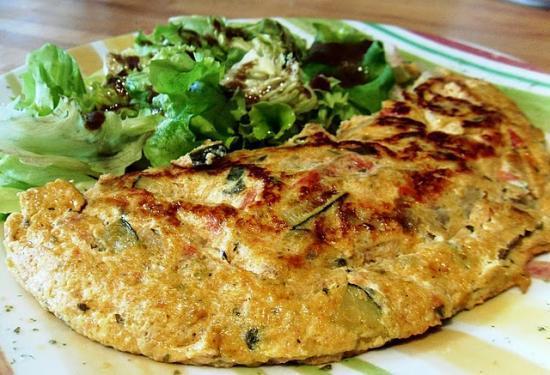 Omelette aux petits légumes