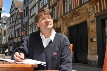 """Pierre Thiry rue Damiette. Côté Rouen présentation des ateliers d'écriture """"Conter la rue Damiette en juillet"""""""