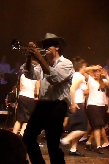 Stéphane, le chef d'orchestre, à la trompette