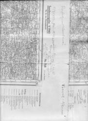 carte allemande Mai 1940 Roanne
